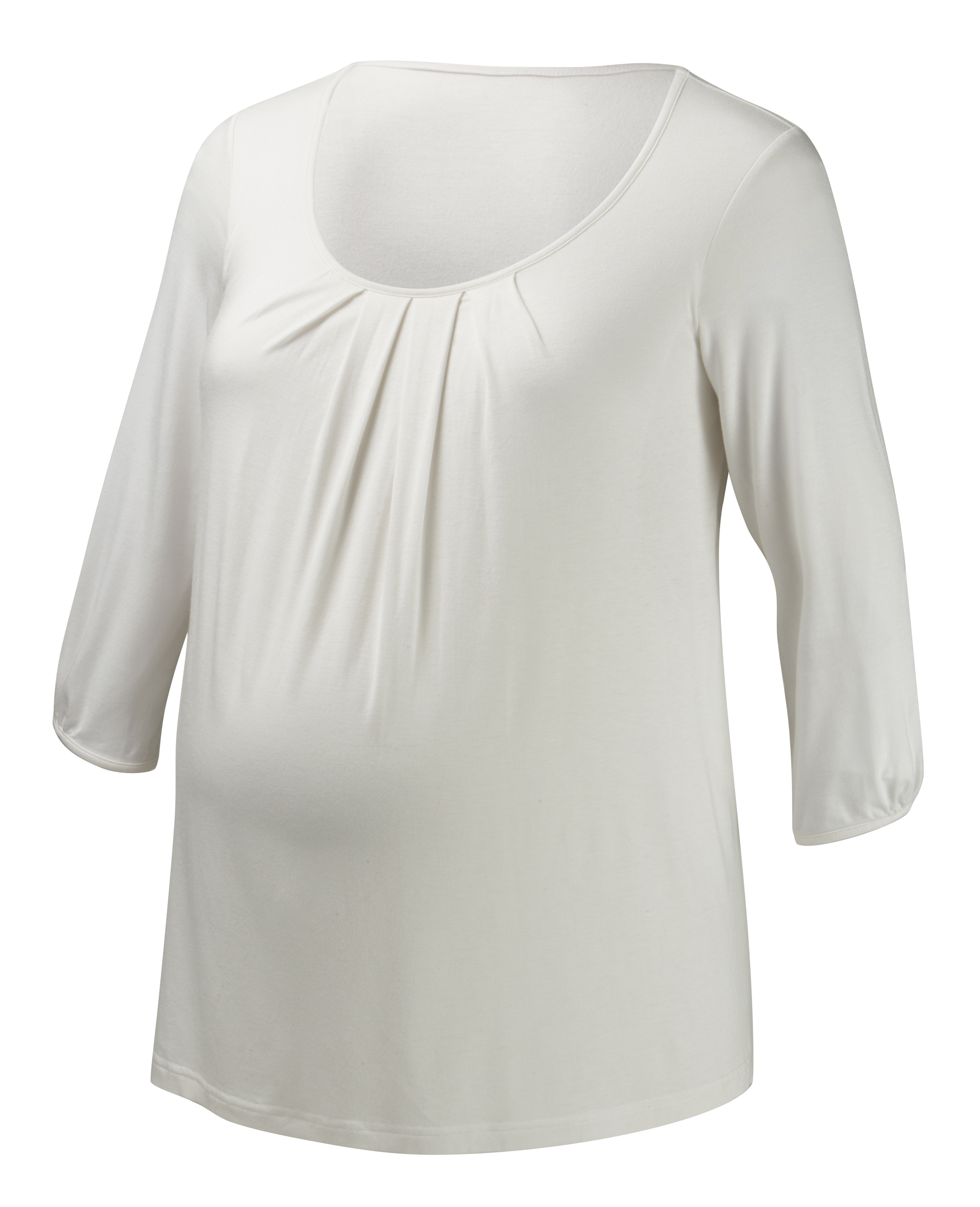 012-JT25-03 | cloud 9 ¾ sleeve nursing top | ivory