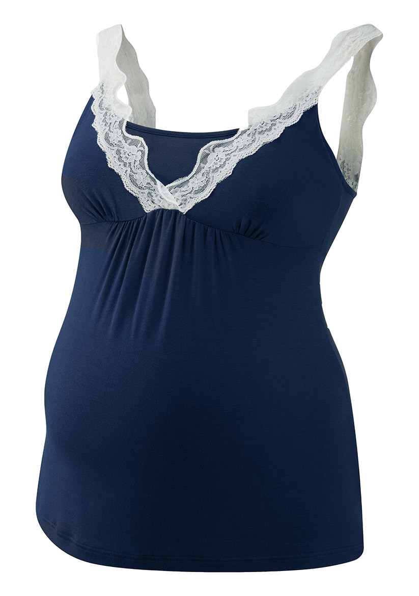 019-LC33-06 | lace cami | navy