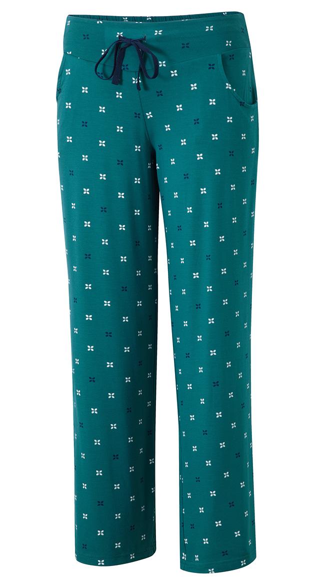 019-PJ32-32   PJ pant w pockets   emerald print